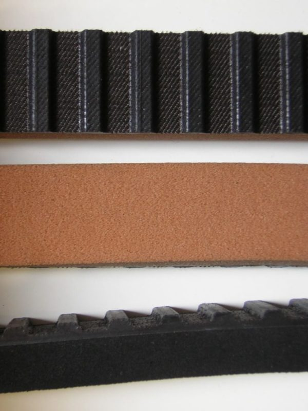 Belt coated rubber for bottling