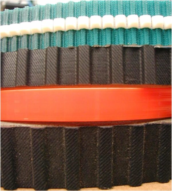 Belts coated rubber for inspection bottle machine
