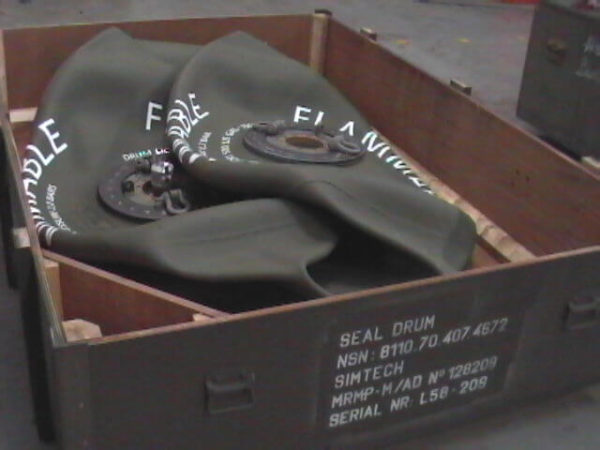 Box storage tank foldable military