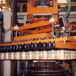 Machine glass palletisation de palletisation glass handling vacuum head pneumatic