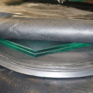 vacuum bag lamination for security glass bullet proof
