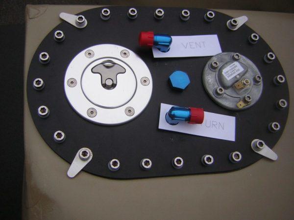 Plate standard racing fuel tank fia
