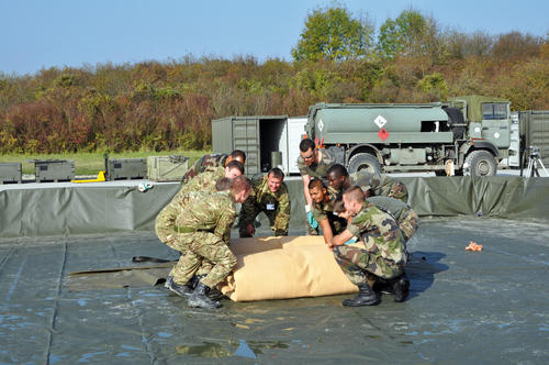 collapsible storage tank military