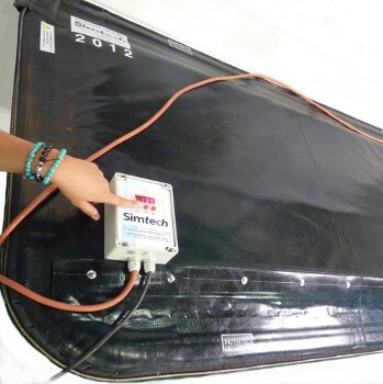 vacuum bag system with self heating process