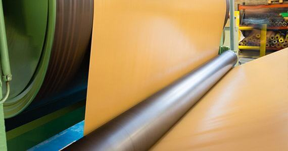 Calendered fabric coated rubber application industrial