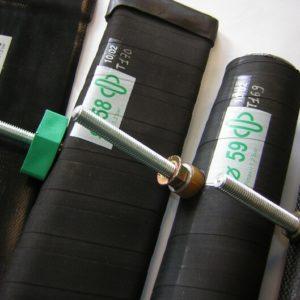 Gripper tube palletizing gripper
